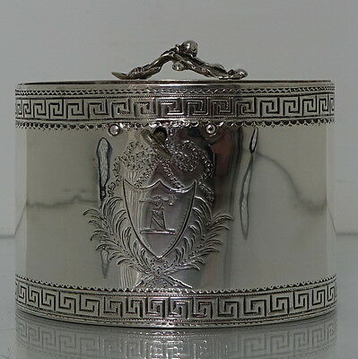 George III Antique Sterling Silver Tea Caddy London 1774 by William Vincent