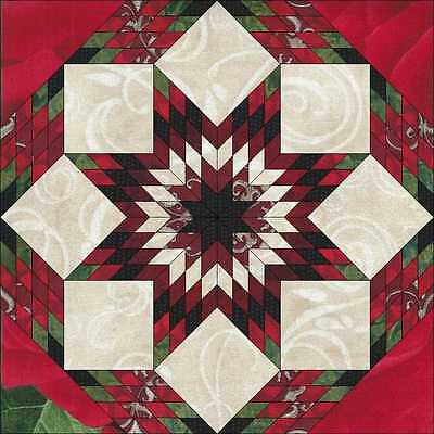 RED, RED ROSES STAR QUILT TOP- Not Quilted, Made in the USA