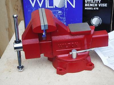 """New 676 Wilton 11128 Utility Workshop Bench Vise, 6-1/2"""" Width, 5-1/2"""" Opening"""