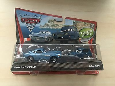 Collectable & Rare Mattel Disney Cars 2 Diecast Set Finn McMissile & Tomber