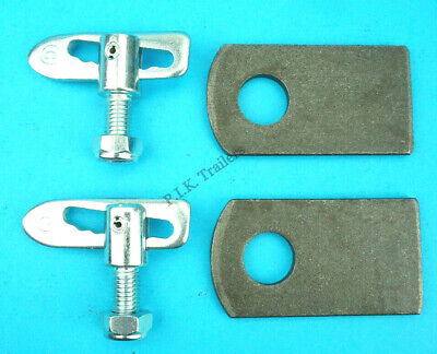2 x Antiluce M12 x 25mm Trailer Drop Catch Tail Gate Fastener & PLATES