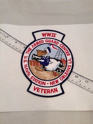 US Navy Armed Guard Large Patch Honoring World War II Veterans New Orleans