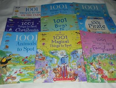 HUGE set of 9 Usborne 1001 Things to Spot series books