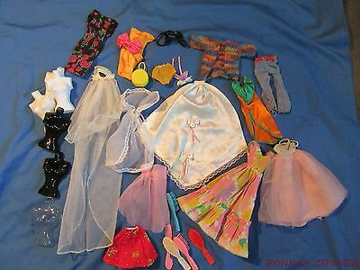 Mixed Lot Of Barbie  Items~ Clothing & Miscellaneous Items ~ Old And New