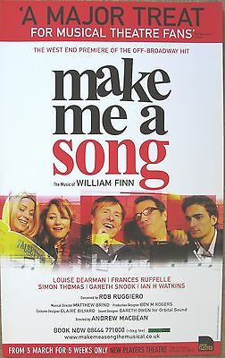 Make Me A Song, New Players Theatre 2008, 12.5 x 20 Inch Poster
