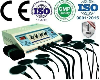 Portable Electronic Stimulator 4ch Electrotherapy Physical Therapy Machine ERT6&