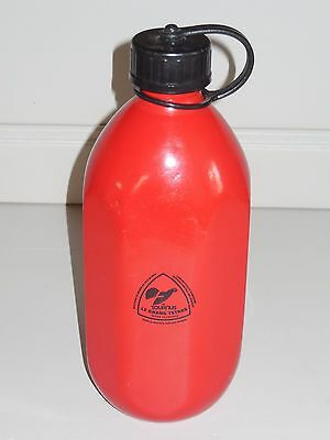 Vintage Tournus LE GRAND TETRAS LITER FLASK Canteen RED France Camping Hiking