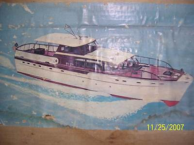 Sterling 63' Chris Craft Motor Yacht Vintage Model Boat Kit B-11M NIOB