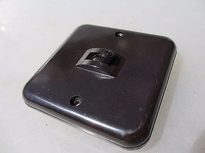 Vintage Bakelite Light Switch Square Plate Art Deco Antique Crabtree Old England