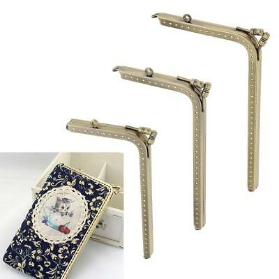 Sewing Purse Handbag L Shape Metal Frame Kiss Clasp Frame Lock Hand DIY Craft