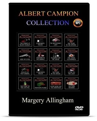 ALBERT CAMPION -Margery Allingham Audio Books Complete Collection OF MP3s on DVD