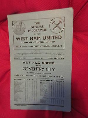 1947-48 West Ham v Coventry City