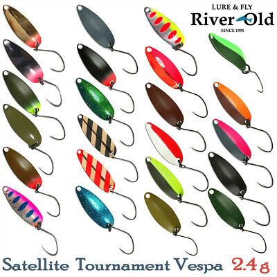 River Old Satellite Tournament Vespa 2.4 g, 26 mm Trout Spoon Assorted Colors