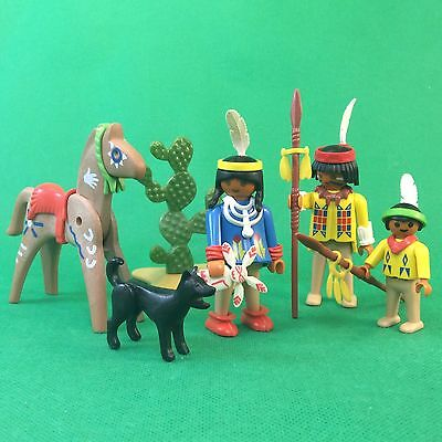 Playmobil Indianerfamilie Indianer  Familie Indian Family  #5-509