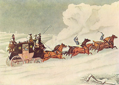 The Devonport Mail Near Amesbury Going Through An Avalanche Antique 1908 Print