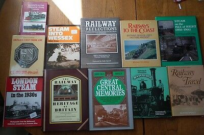 12 Books on British Railway History, Grand Central, LMS, Steam, Victorian etc