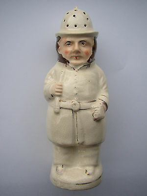Antique Staffordshire Policeman Pepperette Pepper Pot- Victorian Late 19th C
