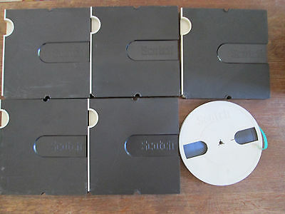 5 SCOTCH reel to reel tapes 18cm 7inch great tapes original SCOTCH boxes