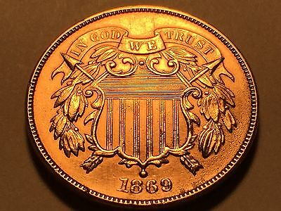 1869 Two Cent Piece  * Choice BU Red * Better Date