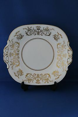 Superb Coalport Gold Gilded Allegro Pattern Cake / Bread And Butter Plate