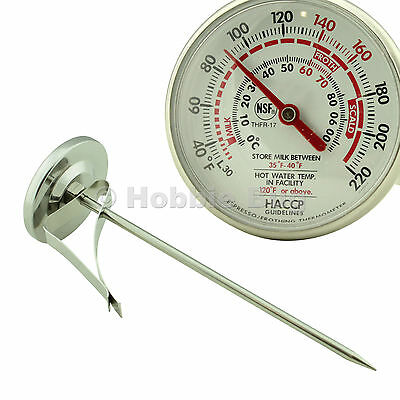 S. Steel Frothing Pitcher Thermometer For Coffee Milk Espresso Liquid Food Drink