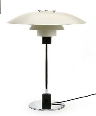 Poul Henningsen Ph 4/3 Vintage Table Lamp Louis Poulsen White Modernist Denmark