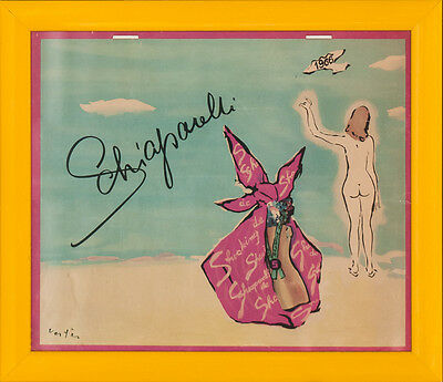 """Shocking 'Elsa' Schiaparelli 1966 Place Vendome Calendar by Vertes"""
