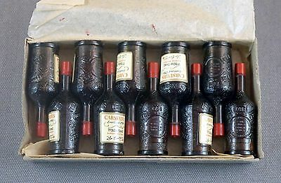 VINTAGE CARSTAIRS WHISKEY MINI BOTTLES PROMO LIPSTICKS UNUSED BOX OF 10 1950s
