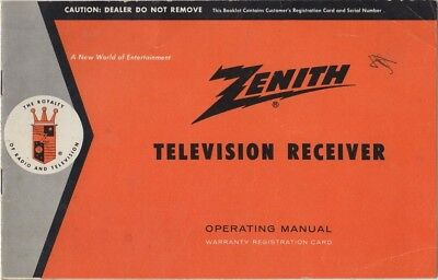 Zenith Television Operating Manual 19721973 Vintage 864 Picclick. Vintage Zenith Television Receiver Operating Manual 1950's. Wiring. Zenith 5g03 Wiring Diagram At Scoala.co