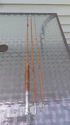 INTERESTING Vintage Fishing Split Bamboo Fly Casting Rod #3