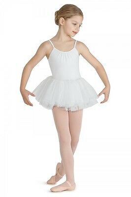 Mirella Girls White Tutu Cami Leotard NWT (M381C)