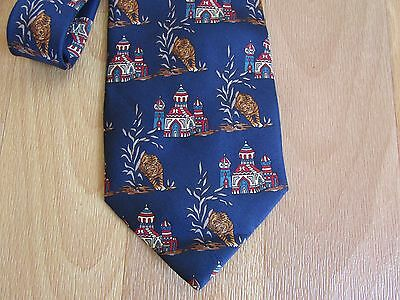 TEMPLE & TIGER Possibly India Images 100% Pura Seta Silk Tie Made in Italy
