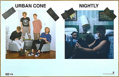 URBAN CONE   NIGHTLY 2017 Ltd Ed RARE New Poster +FREE Indie Pop Rock Poster!