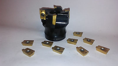 new BRIDGEPORT MILLING MACHINE 2' SHELL MILL CUTTER with 10 pcs carbide inserts