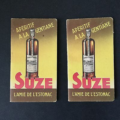 SUZE - Carnets Publicitaires Calendriers 1938 Anciens - French Advertising