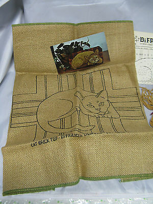 DiFranza Designs Cat Brick Hooked Rug Hanging Pattern Instructions Strips