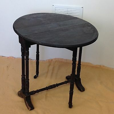 Small Antique Side Drop Leaf Table