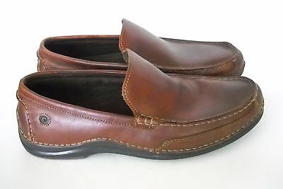 Rockport Men's Brown Leather Casual Driving Shoes Size 10 M Slip On Loafers