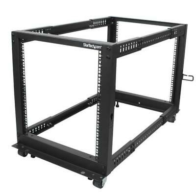 STARTECH 12U Adjustable Depth Open Frame 4 Post Server Rack Cabinet - Flat Pack