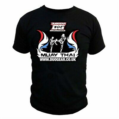 BLACK 'FLAMED' T-SHIRT MUAY THAI KICK BOXING FIGHTER SILHOUETTE (Kids - Adults)