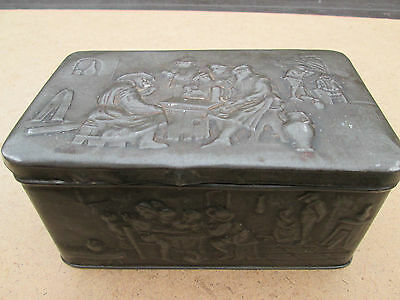 Unique Victorian patinated tin with ale house embossing