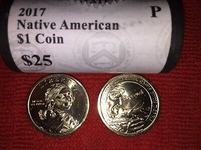 ~HEAD// TAILS~ 2015 D BU SACAGAWEA NATIVE AMERICAN GOLD $25 DOLLAR ROLL ~L@@K~