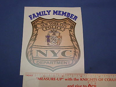 Nyc Police Family Member Ny  Decal (Outside)   Pba Fop   New Decals