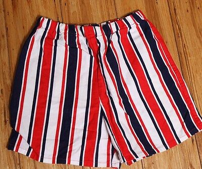 EUC Vintage Girls 70's High Waisted Shorts Red White Blue Home Made Size 10-12