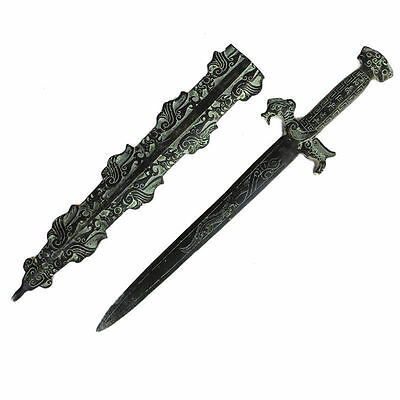 47.5 cm */ The ancient Chinese bronze sword collection two birds statue