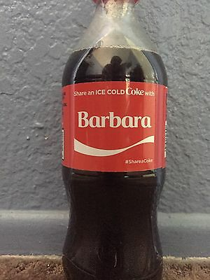 Share A Coke With Barbara Personalized Name Coca Cola Collectible Bottle.