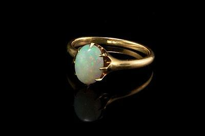Antique Victorian Natural Opal 14K Gold Ring  (052117065)