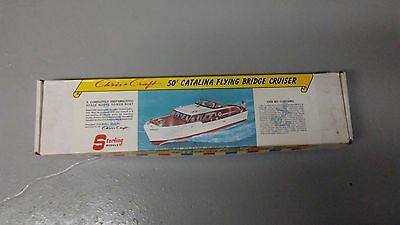 Sterling Chris Craft 50' Catalina Flying Bridge Cruiser Vintage Model Boat Kit