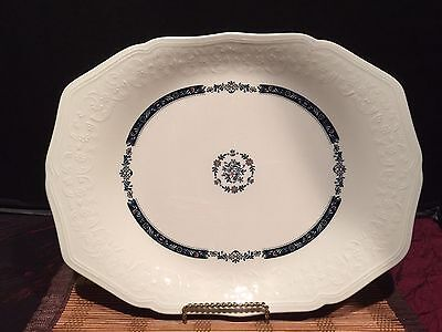 "Asian Porcealin White Oval Platter With Flowers Design Marked 11 3/4""x9 3/4"""