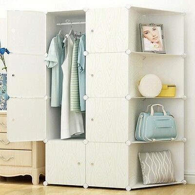 Newly Wardrobe Home Clothes Bedding Closet Storage Cabinet Large Space Organizer